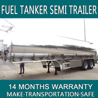 36000 litres 2016 brand new design Fuel Tanker Semi Trailer/High Quality Fuel Truck Semi Trailer Used Oil Tankers For Sale