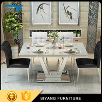 high performance wooden dining table with steel legs best quality and low price