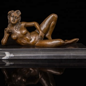 Desktop Decor metal craft small Nude Lady Erotic Bronze Sculpture