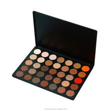 Nieuwe collectie waterdichte 35B kleuren <span class=keywords><strong>oogschaduw</strong></span> met circulaire cake vorm geperst poeder Private Label Eye Shadows 35B HD pirctures