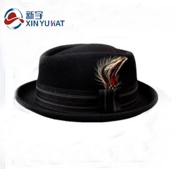 9a6c5de643a Wholesale Wool Hats Feather Black Men Fedora - Buy Wholesale ...