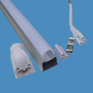 c001f96aca7 Aluminum shade with extrusion pc diffuser T8 integrated led tube light  housing CE RoHs approved tube