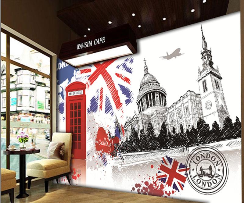 32455b5f4 [ذاتية اللصق] أستراليا 3D لندن انكلترا 979 ورق الحائط الحصري MXY خلفيات  جدارية صائق
