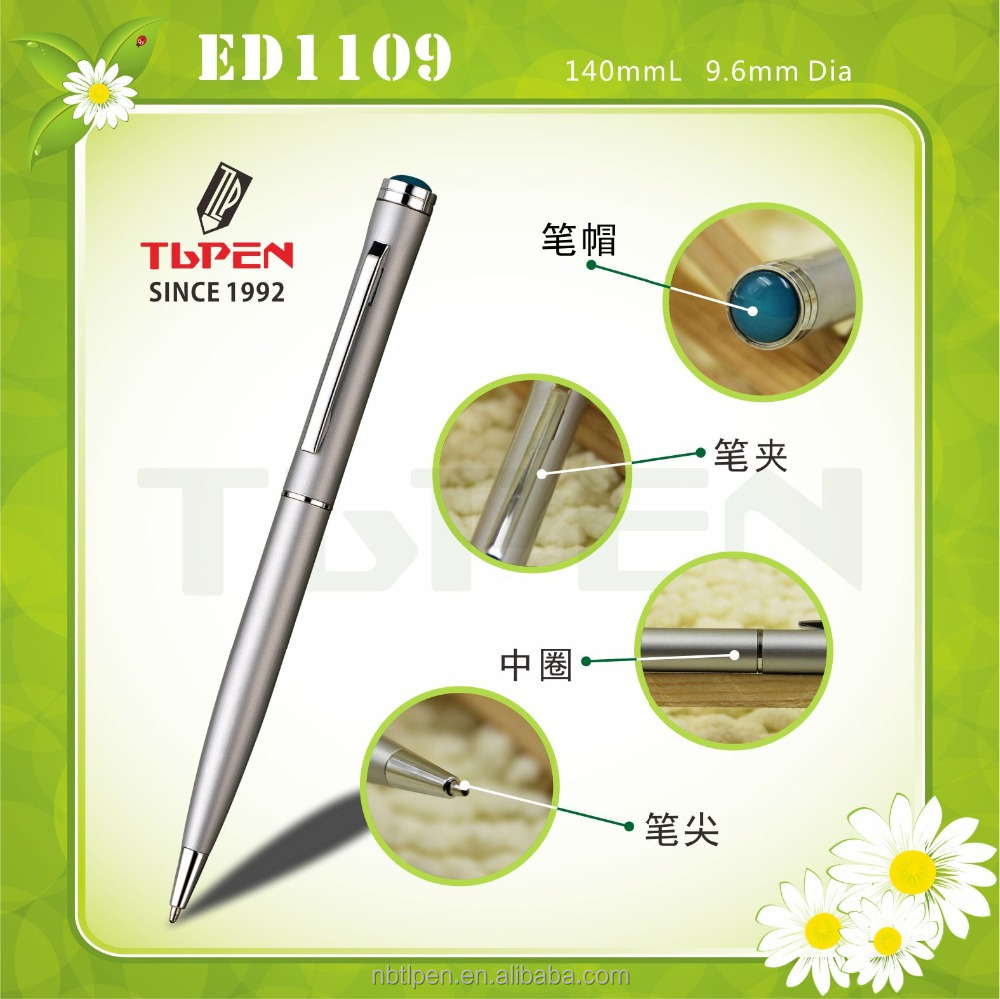 Hot selling hotel gift pen,promotional metal body ballpoint pens with logo