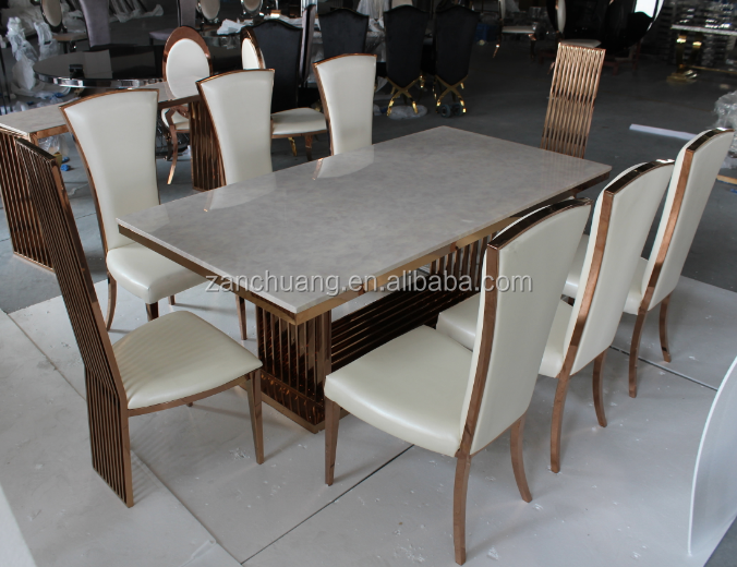 Muebles para el hogar comedor de m rmol blanco de mesa de for Mesas de marmol para comedor