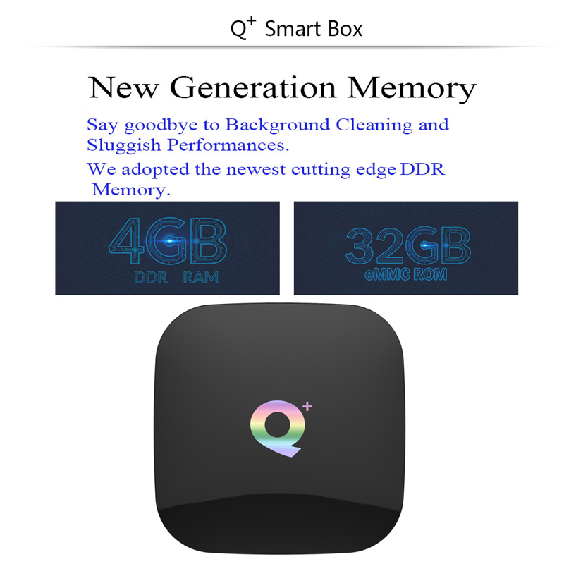 Newest Q+ PLUS allwinner H6 4GB 32GB/ 64GB Android 9.0 Smart TV BOX android tv box Q+ support 6K H.265 media player  Wifi TV box
