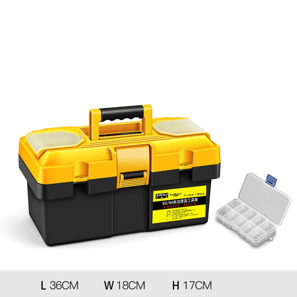 "Tool Boxes | Portable Tool Box Storage 12.5"" 14"" 17"" 20"" 23"" Small/Medium/Large, 1PCS (Size : L36W18H17cm)"