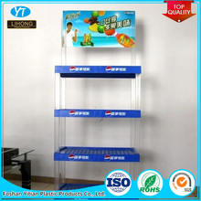 Custom ABS PS PMMA Plastic Snoep Brood Winkel Display Rack