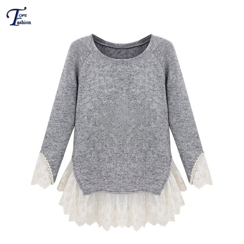 Cheap Grey Sweater With Lace, find Grey Sweater With Lace deals on ...