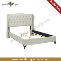 Living room furniture unique modern luxury white PU upholstery bed