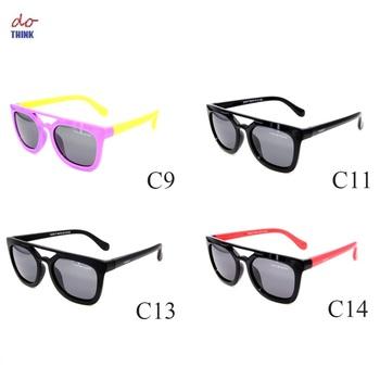 bede0059b4 S8128P amarillo Azul Rojo TR90 Flexible niños gafas de sol UV400 gafas  polarizadas bebé niño seguridad