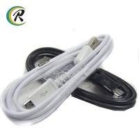High Quality black white Android usb data cable for Samsung S4