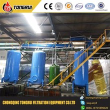 waste lubrication tire oil distillation filter plant for tire oil recycling diesel