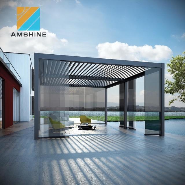 Waterproof Aluminum Louvered Roof Patio Pergola Covers