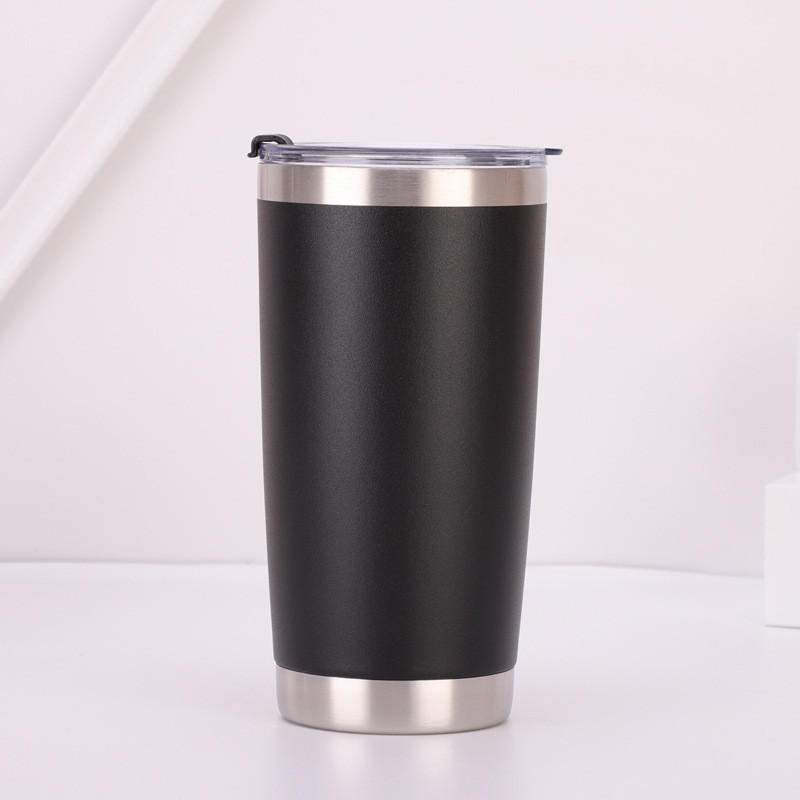 Powder Coated 20 oz Car Travel Sport Cup 304 Stainless Steel Vacuum Glass Tumbler
