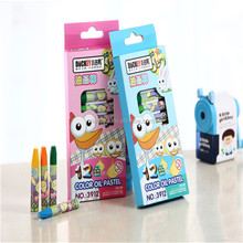DUCKEY Wholesale 12 colors kids painting children oil pastel crayons