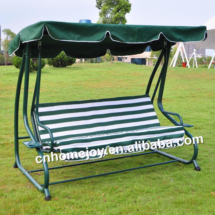 Luxury 3 Seater Swing Gazebo With Bed Net
