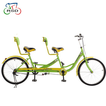 2017 New design Mom and baby bicycle new type three seat family bicycle folding Tandem Bicycle in good quality