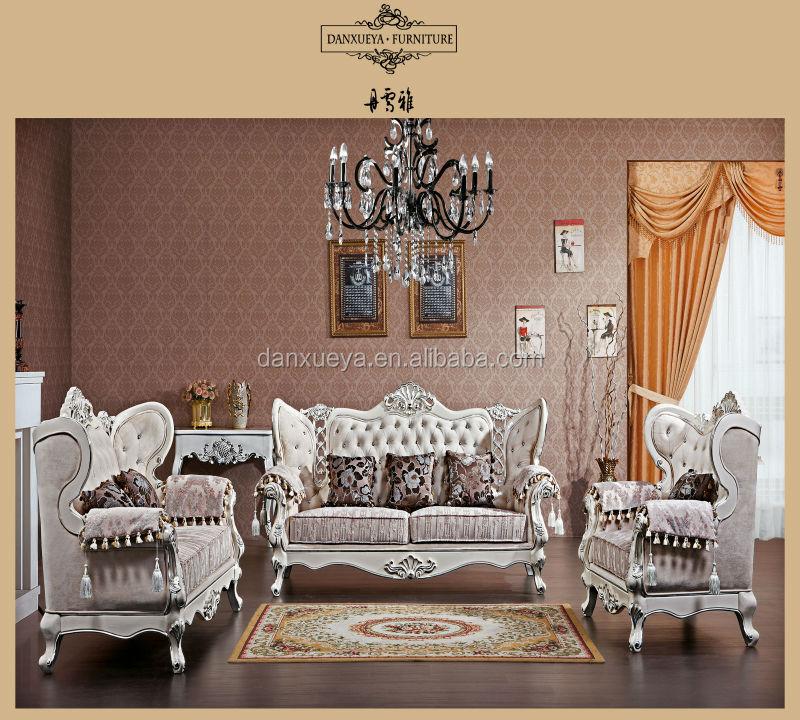 Customized Sofa Set , Alibaba Living Room Furniture Sofa , Luxury Elegant  Sofa Couches DXY