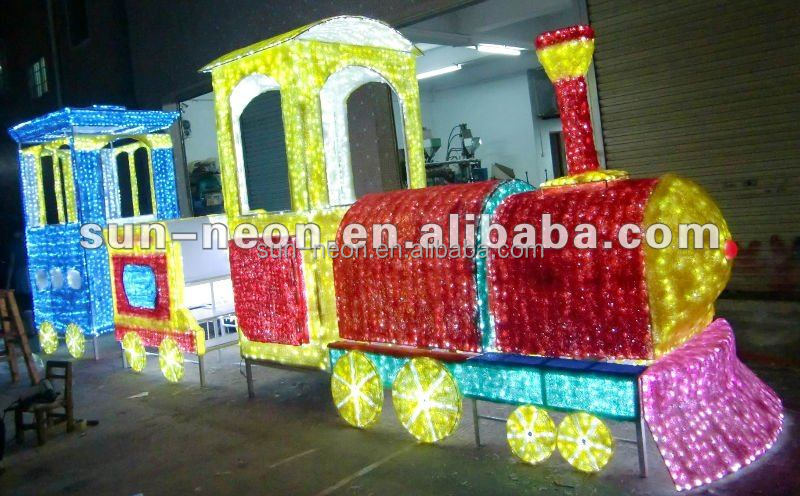 Outdoor Lighted Christmas Train