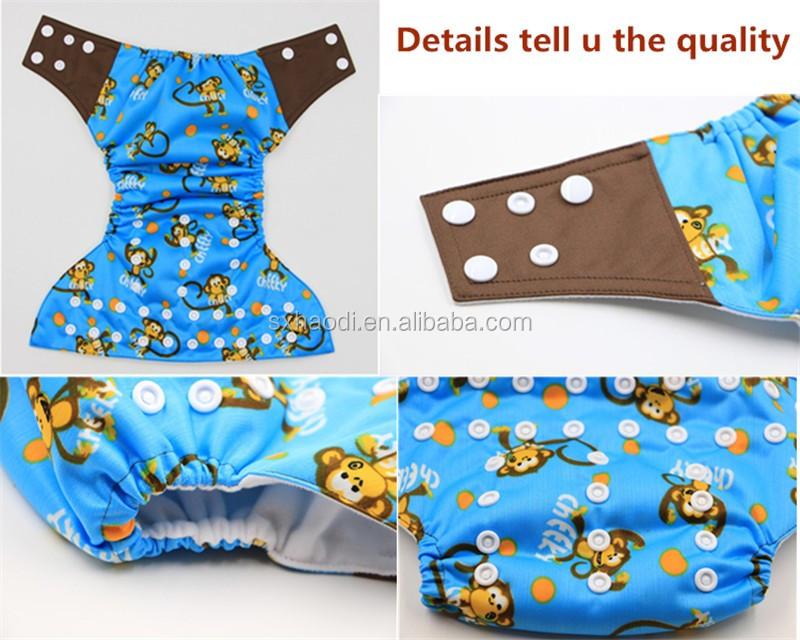 Custom Cartoon Character Aio Diaper Comfortable Best Baby Cloth