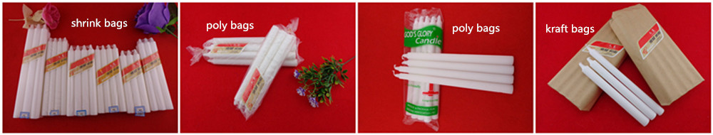 Polybag packing 30g.33g White Candle to Yemen carrie-