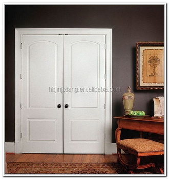 Modern White Color Double Swing Interior Closet Doors