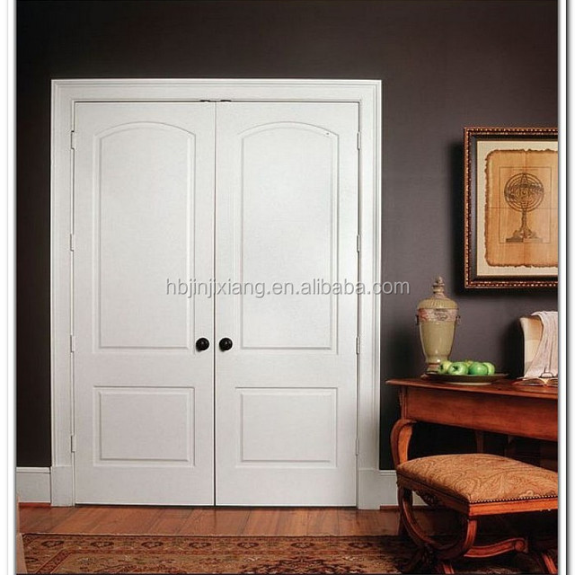 modern white closet doors. modern white color double swing interior closet doors