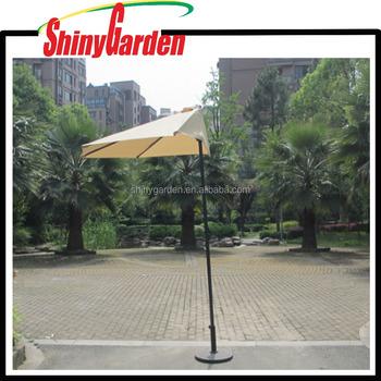 Decorative Outdoor Patio Half Umbrellas Cafe Wall Balcony Door 5 Ribs Umbrella Tilt Aluminum Sun Shade
