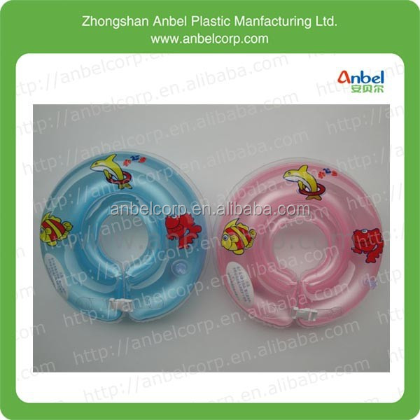 Zhongshan baby inflatable neck float swimming ring swimming floater for kids