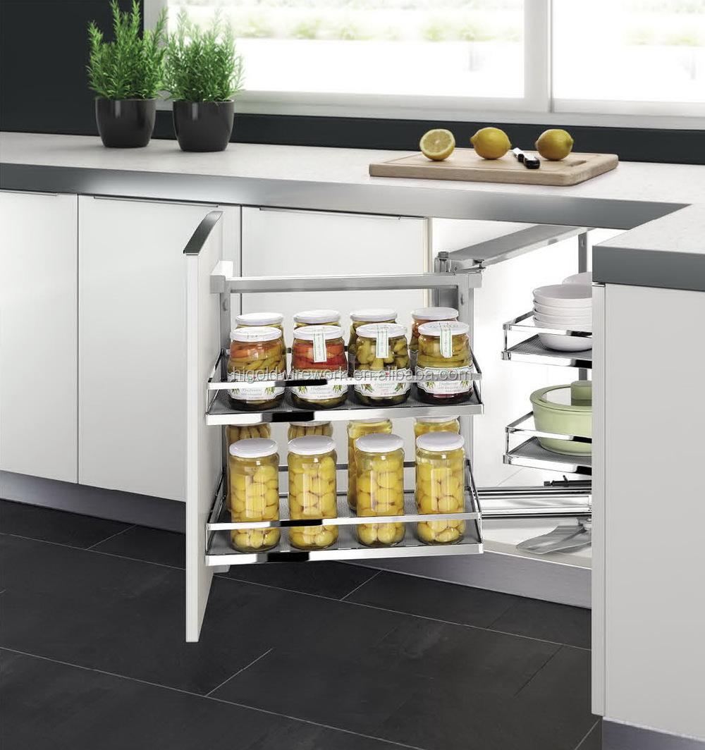Haute qualité moderne armoires de cuisine coin magique panier de ...
