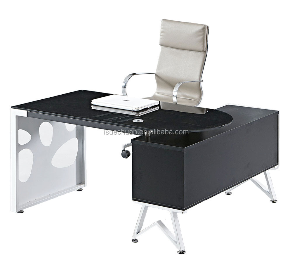 Modern High Quality Glass Top Executive Office Center Table Design With  Steel Frame - Buy Office Table With Glass Top,Executive Office Table ...