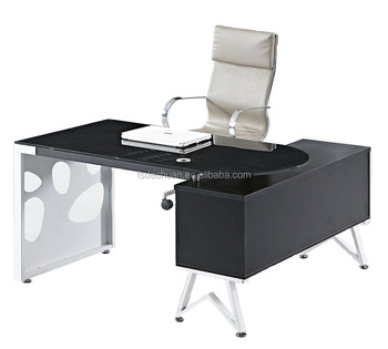 Modern High Quality Glass Top Executive Office Center Table Design - High top office table