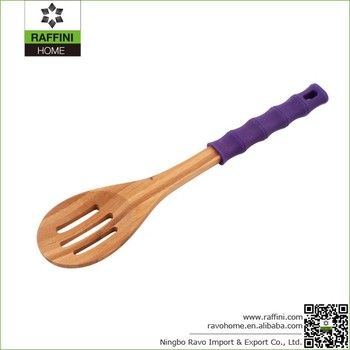 FSC Durable Bamboo Kitchen Slotted Spoons
