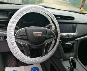Protector transparent/milk white car PE wholesale steering wheel cover