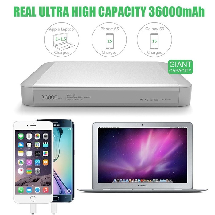 MAXOAK K3 36000mah for macbook Copower bank for Apple Laptop Macbook Pro 13&15 Inch Macbook Air 11&13 Inch Portable Char