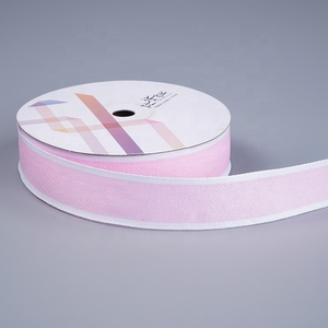 Hot selling simple style tape polyester deco ribbon tie gift ribbon for valentine gift