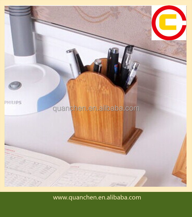 Fashion Bamboo Pen Holder For Office