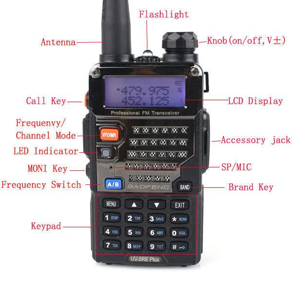 Longue Portée Baofeng Uvra Vhfuhf Talkie Walkie Meilleure Gamme - Talkie walkie longue portée