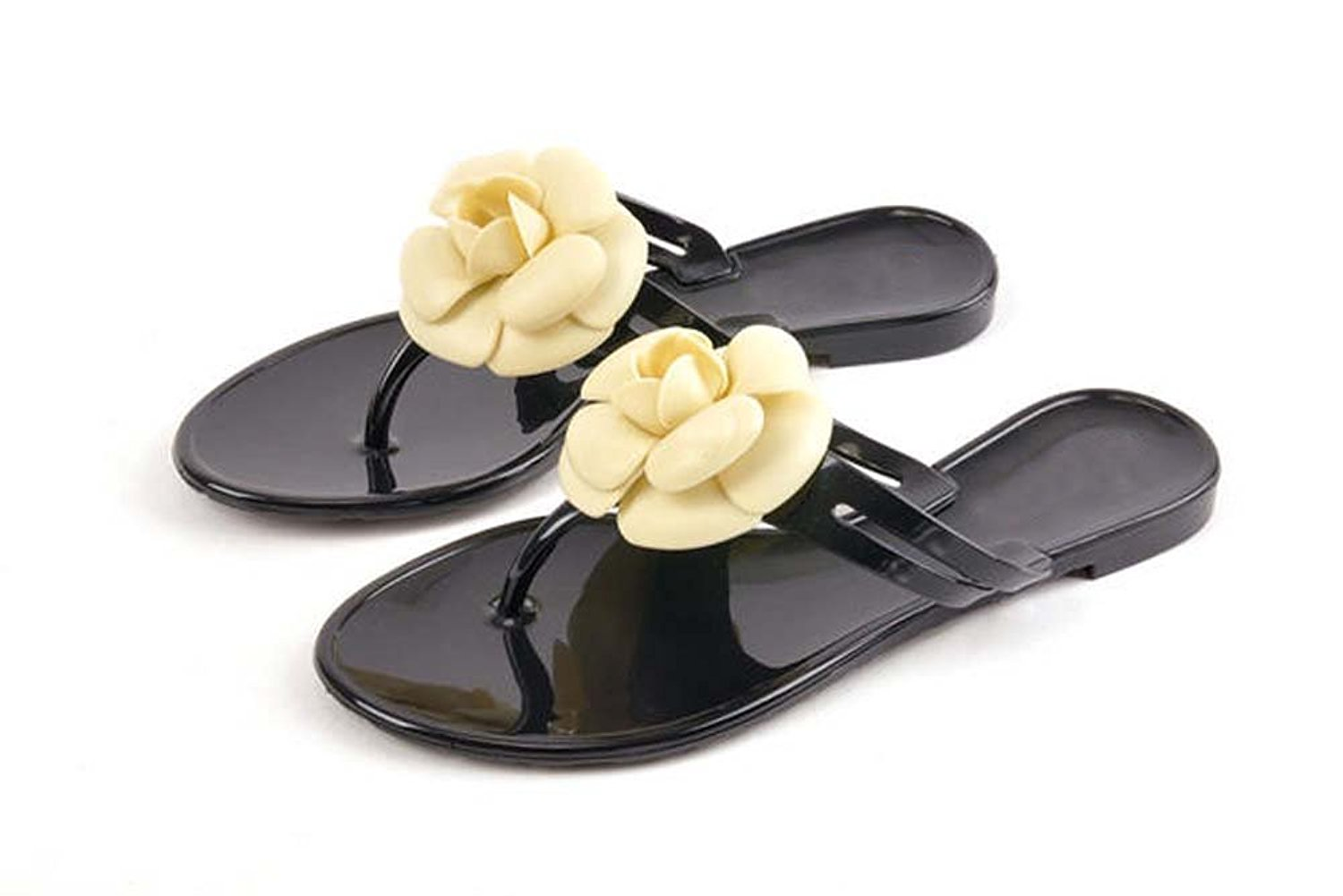 1a37409774bd6a Get Quotations · Woman 2014 Summer Sandals Summer Shoes Camellia Slippers  Flip Flops Jelly Shoes Crystal Flower Sandals Flats