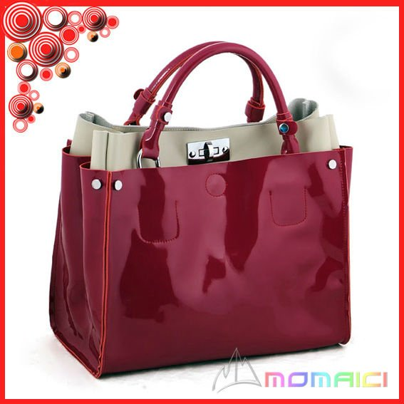 2012 Fancy pattern real leather tote bag