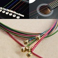 Practical 6pcs Set Hot Acoustic Guitar Rainbow Colorful Steel Strings For Acoustic Folk Guitar Classic Guitar