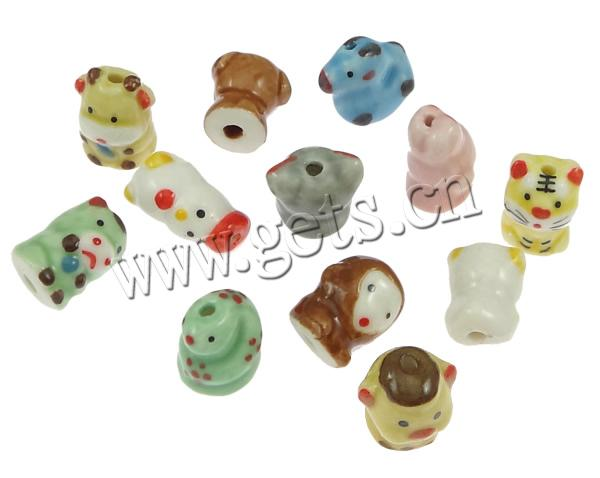 Gets porcelain chinese zodiac beads bracelet