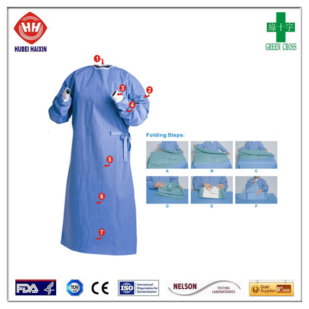 High Risk Reinforced Smms Surgical Gown Eo Sterilized Aami 3 - Buy ...