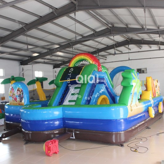 indoor inflatable playgound small fun city for kids