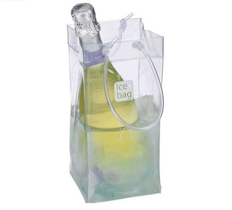 Hot selling plastic ice bag for wine bulk buy from china