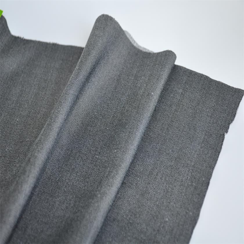 Plain knitted 300 gsm yarn dyed tricot lining fabric with heating function