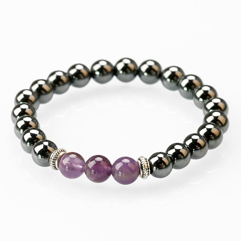 Zenper Amethyst Drusy Bangle/Wrist Bracelets Men Women/Bracelets For Juwelry Making