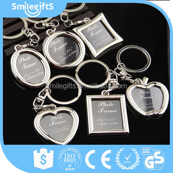 Various Shape Photo Frame Keychain with Customized Printing