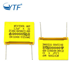 New Design Certificate Mkp X2 Capacitor 1.5uf 275vac P27.5mm